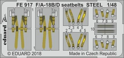 F/A-18B/D seatbelts STEEL for Kinetic
