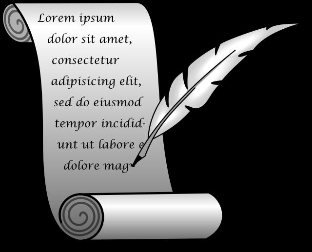 Symbolbild författande, bildkälla Wikimedia Commons