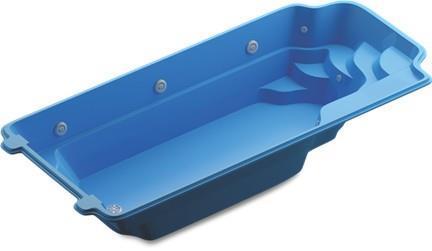 Glasfiberpool Moab Blå9,5x3,75x1,55