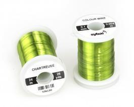 Wire 0,1mm -Chartreuse