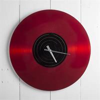 Klocka vinyl röd