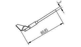 Desolderin tip 15x12,5mm(pair)