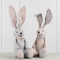Kanin sittande, sorterade färger, textil