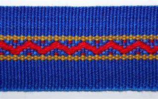 Damebånd - Blå, rød, gul
