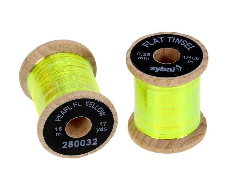 Tinsel flat 0,25mm - Pearl Yellow