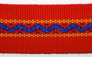 Jentebånd - Rød, blå, gul