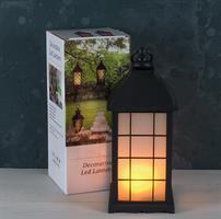 LED lykta med frostat glas