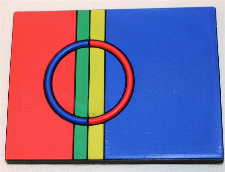 Magnet - samisk flagg