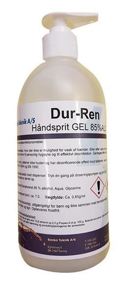 Handsprit 85% med gel 500 ml/flaska