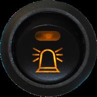Brytare, Varningsljus12V, belyst symbol