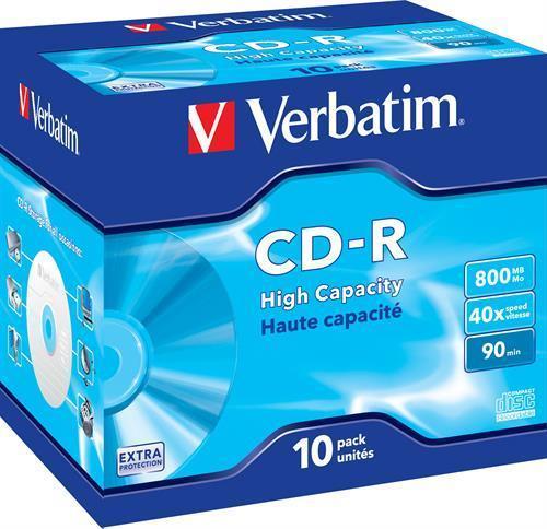 CD-R MEDIA, VERBATIM 90MIN 40X
