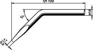 Chisel-shaped, bent, 5.3mm