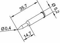 Tip Ersadur 0,4mm Pencil, Long