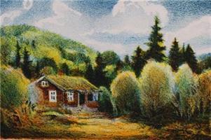 Kjell Thorjussen-Hytta i skogen