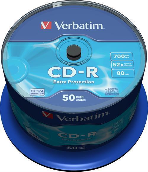 CD-R MEDIA, VERBATIM 52X, 50-P