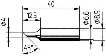 Tip Ersadur 4,0mm Angled face