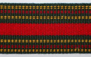 Herrebånd - Grønn, gul og rød