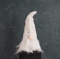 Tomte, vit/silver, textil