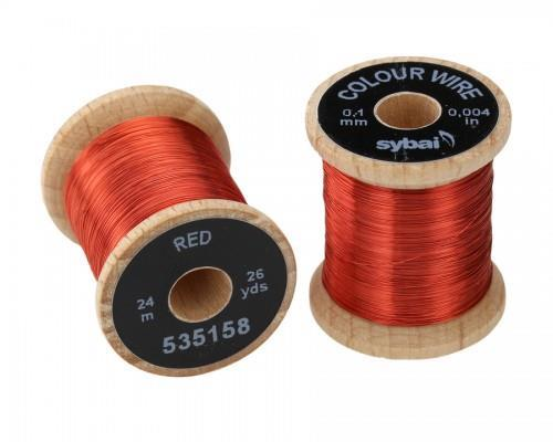 wire 0,1mm - Red