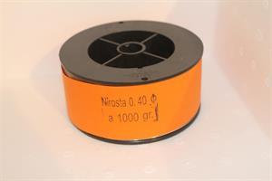 Rustfri tråd, 0,4mm, 1kg