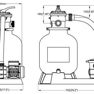 Sandfilter&Pump Saturn75 kg+pump0,73 kW