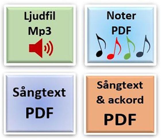 Här kan du ladda ner enskilda sånger! Inspelade i sångversion och de flesta utskrivna med både noter, ackord och text!