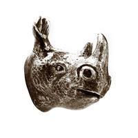 Knopp/Krok noshörning svart antik