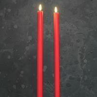 Kronljus LED rött, 3D-låga, timer