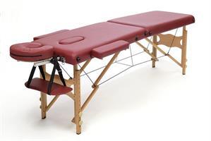 Massagebänk i trä, bordeaux 50cm