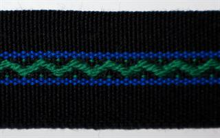 Damebånd - Svart, grønn, blå