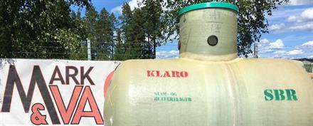 Klaro Reningsverk Glasfibertank 15pe