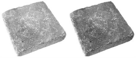 Mosaiken Tumlad Marksten Struktur GråMix 210x210x50 mm