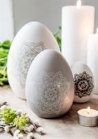 Grått keramik ägg ifrån Majas Cottage