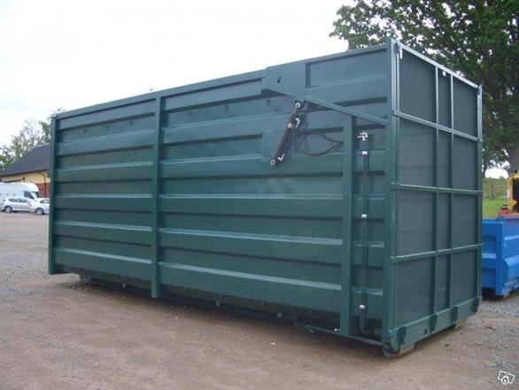 Grönfoder-, fliscontainer med Hydraulisklucka