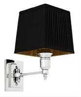 Vägglampa Lexington Single, krom (svart skärm)