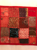 Kuddfodral indiska mönster röd