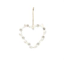 Hjärta i metall vit