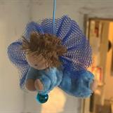 Liten ljusblå skyddsängel med kort ljusbrunt hår - Klicka för att beställa