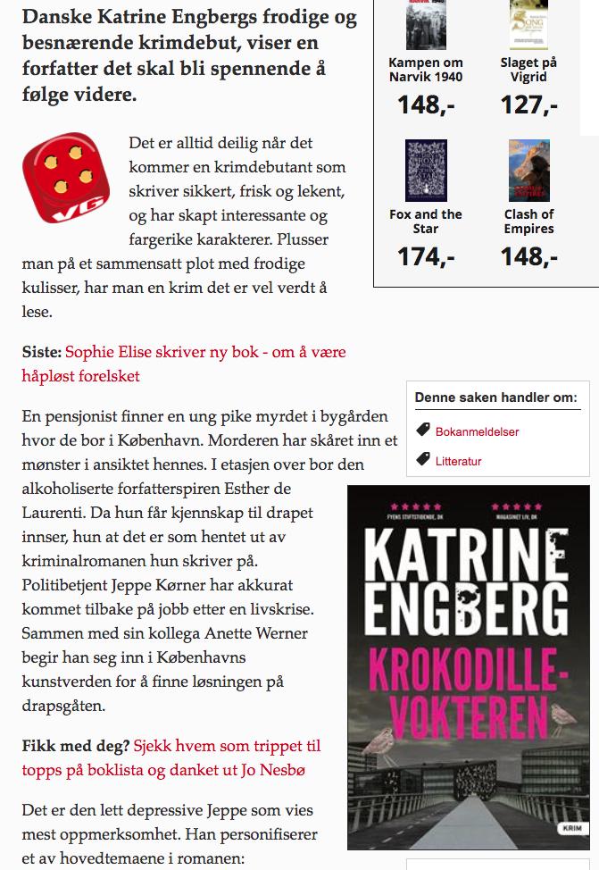 """VG anmelder """"Krokodillevokteren"""""""