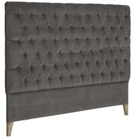 London Sänggavel - Velvet Iron Grey 180 cm