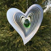 Modell Svängt hjärta grön