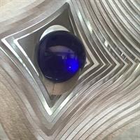 Glaskula 35 mm blålila