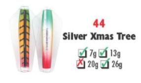 Tasmanian Devil #44 Silver Xmas Tree 26 gram