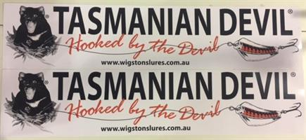 Tasmanian Devil Boat Sticker 1 par