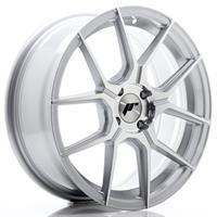 JR Wheels JR30 17x8 ET20-40 5H BLANK Silver Machin