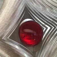 Glaskula 35 mm röd