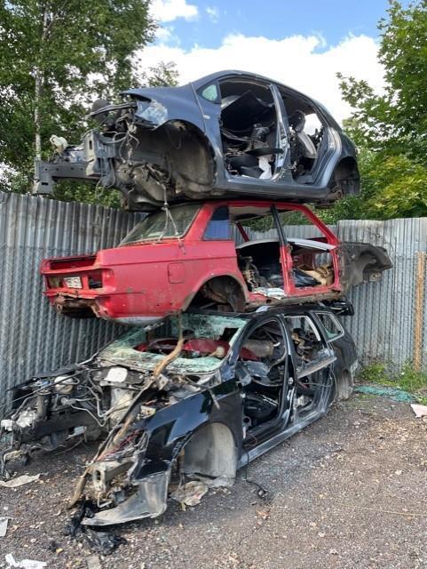 Opressade bilar