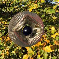 Vindspel Geometri blålila 35 mm kula