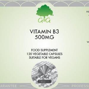 B3 Niacin (nikotinsyra) 500 mg