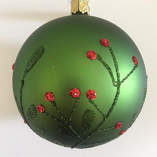 Julekule, villblomster - 8 cm